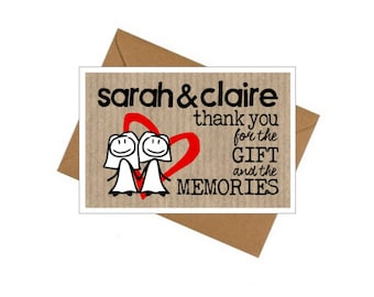 10 Pack Thank You Cards - Wedding/Civil Partnership