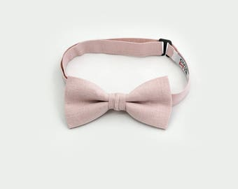 Blush Pink Bow Tie Kids Bow Tie Boys Bow Tie Groomsmen Bow Tie Ring Bearer Bow Tie