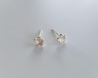 Cherry Blossom Studs - Sterling Silver