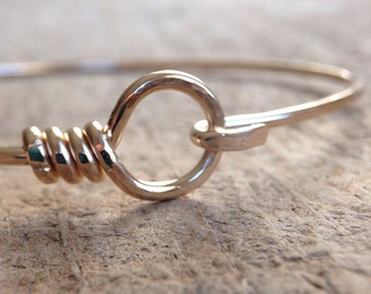 14K Gold Fill Hook and Eye Bangle, Gold Bangle, Gold Bracelet, Hinged Bracelet, Hook Bracelet, Stackable Bracelets, Bohemian Jewelry