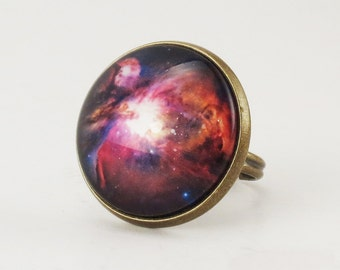 Orion Nebula Ring, Galaxy Jewelry