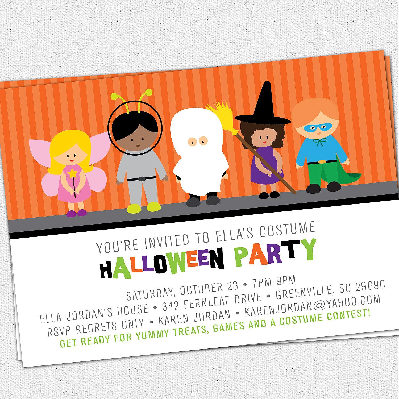 halloween party invites templates
