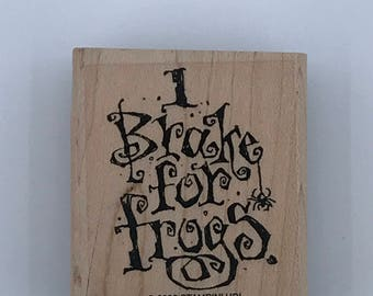 Stampin' UP! I Brake For Frogs ~ Rubber Stamp