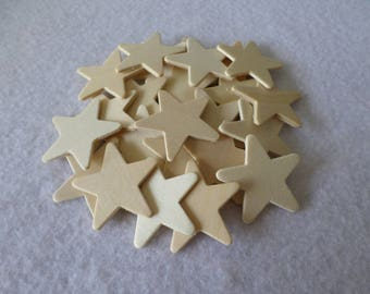 25 Wood stars, unfinished, for kids crafts, wood crafts, wood working