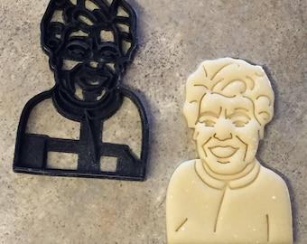 Maya Angelou Cookie Cutter 3D Printed