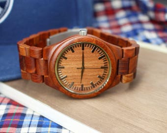 Mens Watch Wooden Watch Wood Watch Engraved Watch Groomsmen Gifts Ideas Anniversary Gifts for Men Christmas Gifts for Husband Gifts for Dad