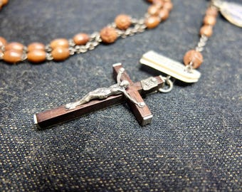 Lourdes Rosary, on Rosewood with Coconut Shell Beads