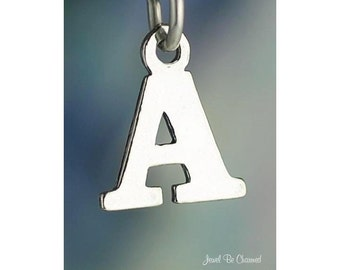 Sterling Silver Small Letter A Charm Initial Capital Letters Solid 925