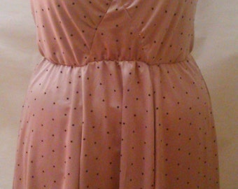 CLEARANCE! SPANKING NEW! Size 22 plus size hand crafted dress oyster pink and black star print satin