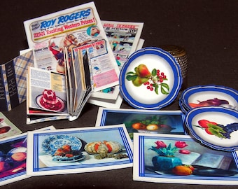 Kitchenset, Paperminis, Bastelkit of paper in miniature for the Dollhouse, the doll house, Dollhouse Miniatures # 40044