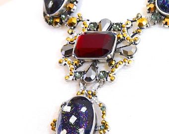 Statement necklace, Crystal necklace, Gemstone necklace - Jaela