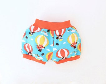 Baby Children Bubble Shorts pattern Pdf sewing AIR BALLOON Bloomers, Knit Jersey, Diaper Cover, Toddler newborn 3 6-9 12 18m 1 2 3 4 5 6 yrs