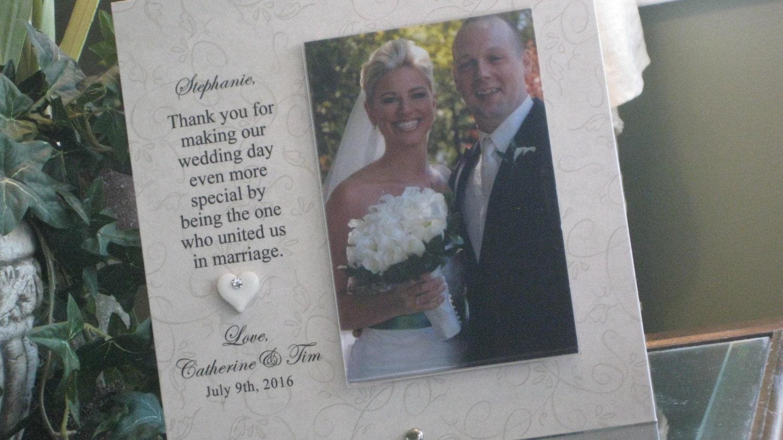 WEDDING OFFICIANT GIFT Wedding Officiant Frame