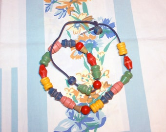 String of Wooden Beads, 1930s/40s toy