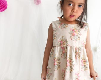 NEW Auni Summer Girls dress, floral girls dress