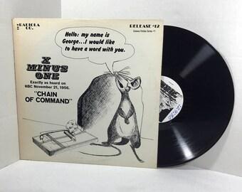 X Minus One Radiola Release 12, Science Fiction Series 1 vinyl record 1971 VG+ Radio Broadcasts