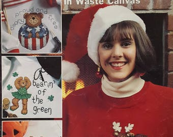Beary Happy Holidays in Waste Canvas Instruction Booklet