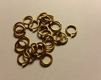 AR=5, 100 g of Saw-cut brass jump rings