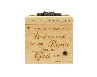 Wooden Prayer Box - Maple - Prayer Box - Engraved