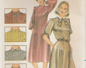 Sweet 80s Dress Pattern Butterick 3960 Size 14 Uncut