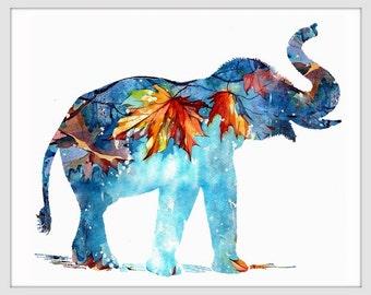 Elephant Art Print, Elephant Decor, Elephant Art, Elephant, Elephant Wall Decor