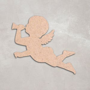 Angelic figure decor etsy christmas angel unfinished wood shapes craft supplies unfinished figure decoration home solutioingenieria Images