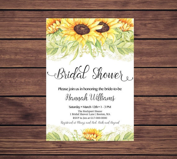 Sunflower bridal shower invitation sunflowers bridal shower like this item filmwisefo Images
