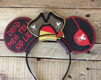 Pirates of the Carribean Disney Ears for Guys