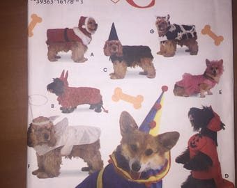 Simplicity Sewing Pattern 9257 Dog Santa, Witch, Cow, Ballerina, Devil, Pumpkin, Angel and Clown Costumes