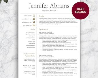 resume template professional resume template for word and pages modern resume template modern - Contemporary Resume Template