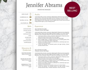 Resume Template. Professional Resume Template For Word And Pages. Modern Resume  Template. Modern