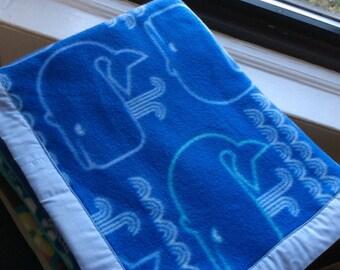 Whale Watchin' Fleece Pet Blanket