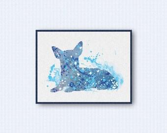 Chihuahua Watercolor Poster