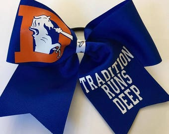 Denver Broncos Cheer Bow - Broncos Girl - Broncos Gift