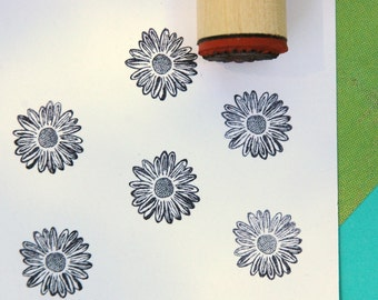 Shasta Daisy Rubber Stamp