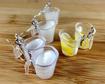 Measuring cup polymer clay miniature food jewelry