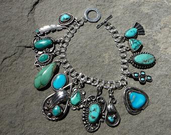 Turquoise BraceletHandmade Native American JewelryVintage