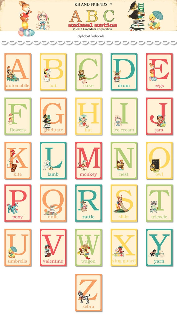 Baby ABC flashcards | Project life, Scrapbooking and Craft