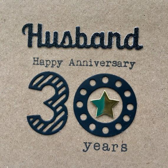 30th Wedding Anniversary Card Husband 30 Years Pearl