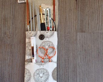 Needle Pouch Project Bag Knitting Bag Crochet Bag Maker Case