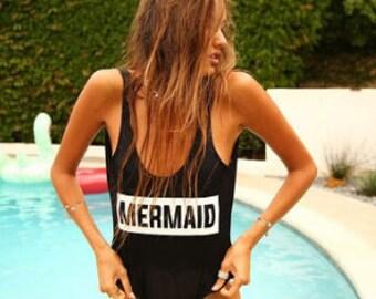 MERMAID Block One Piece Swimsuit/Bikini/Bodysuit available in multiple colors