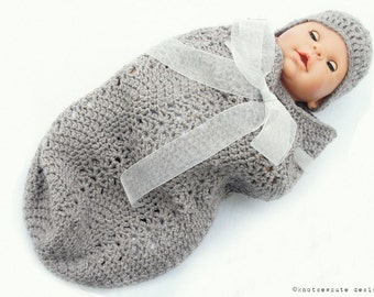 CROCHET PATTERN - Baby Cap & Cozy - Instant Download (PDF)