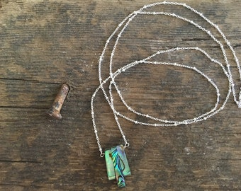 Silver and Abalone Necklace.