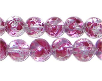 12mm Gladiola Spray Glass Bead, approx. 18 beads