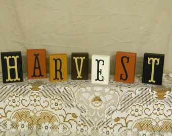 Set Of Harvest Blocks