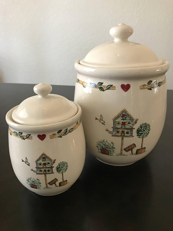 Thomson Keramik China Vogelhaus Küche Kanister Festlegen von