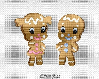 Cross stitch pattern - Baby gingebread