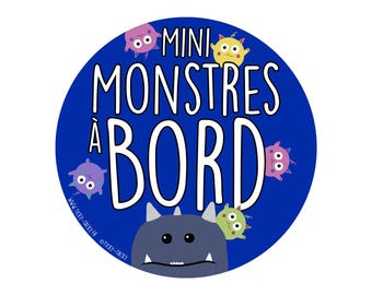 For car - baby on board stickers / Mini monsters