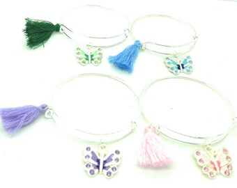 Girls butterfly bangle bracelets