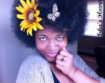 XL Oversized Large Sunflower hair clip, brooch, pin, big hair flower, big hair